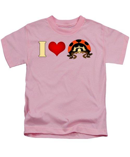 I Love Ladybugs Kids T-Shirt by Sarah Greenwell