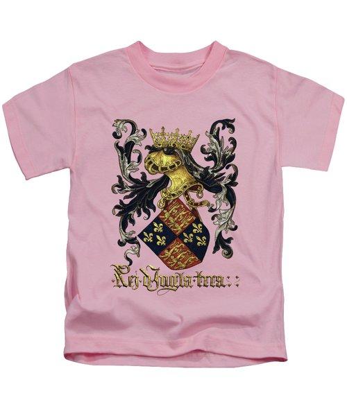 King Of England Coat Of Arms - Livro Do Armeiro-mor Kids T-Shirt by Serge Averbukh