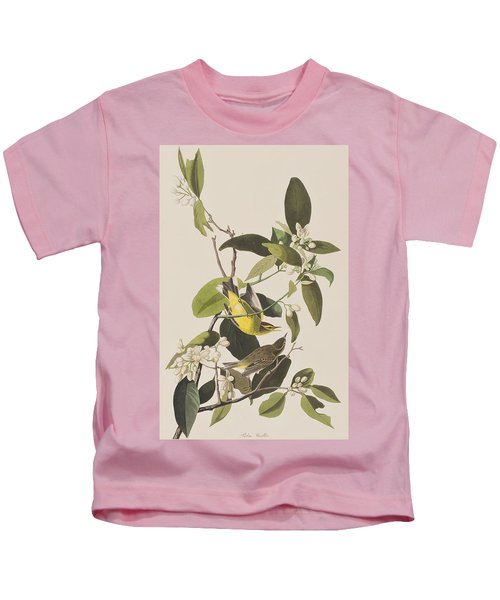 Palm Warbler Kids T-Shirt by John James Audubon