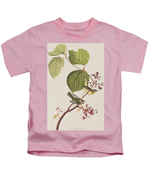 Pine Swamp Warbler Kids T-Shirt by John James Audubon