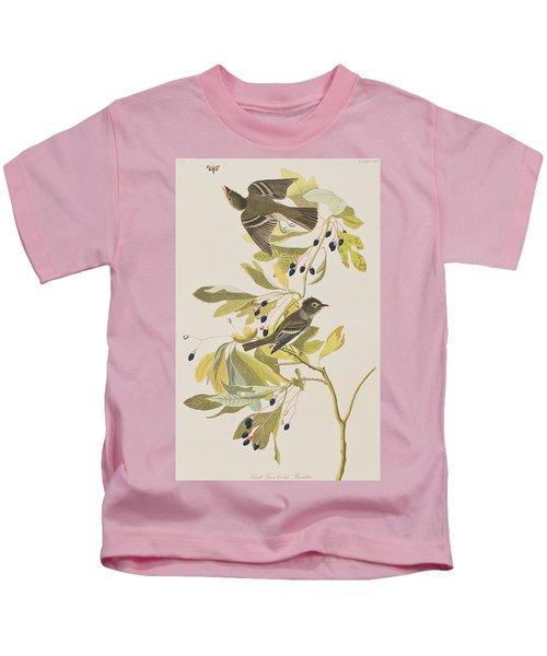 Small Green Crested Flycatcher Kids T-Shirt by John James Audubon