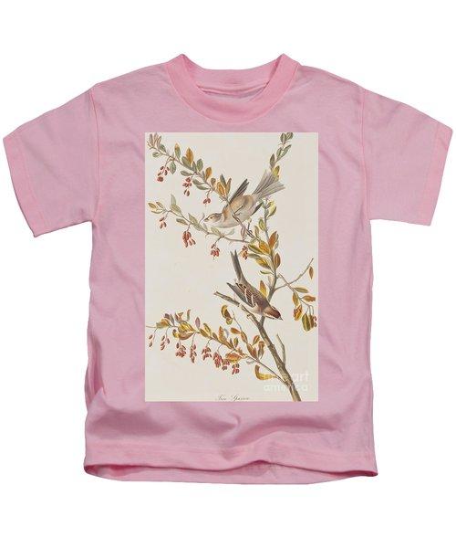 Tree Sparrow Kids T-Shirt by John James Audubon