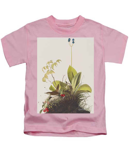 Wood Wren Kids T-Shirt by John James Audubon