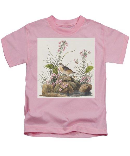 Yellow-winged Sparrow Kids T-Shirt by John James Audubon