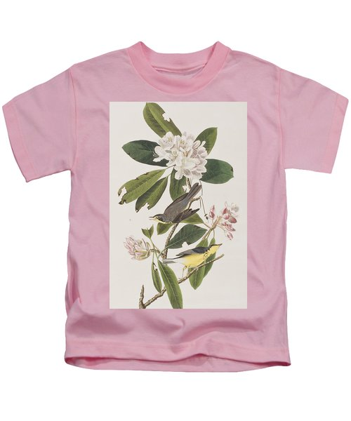 Canada Warbler Kids T-Shirt by John James Audubon