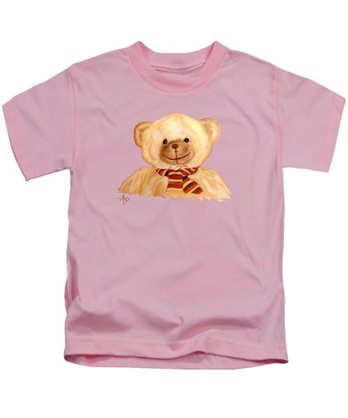 Cuddly Bear Kids T-Shirt by Angeles M Pomata