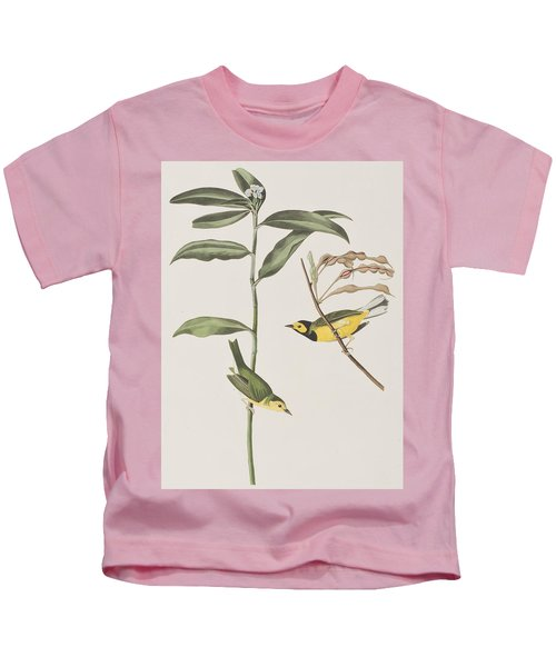 Hooded Warbler  Kids T-Shirt by John James Audubon