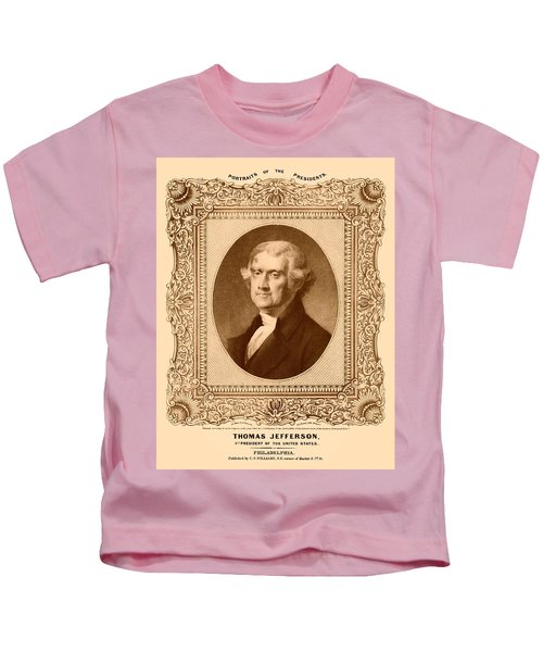 Thomas Jefferson Kids T-Shirt by War Is Hell Store