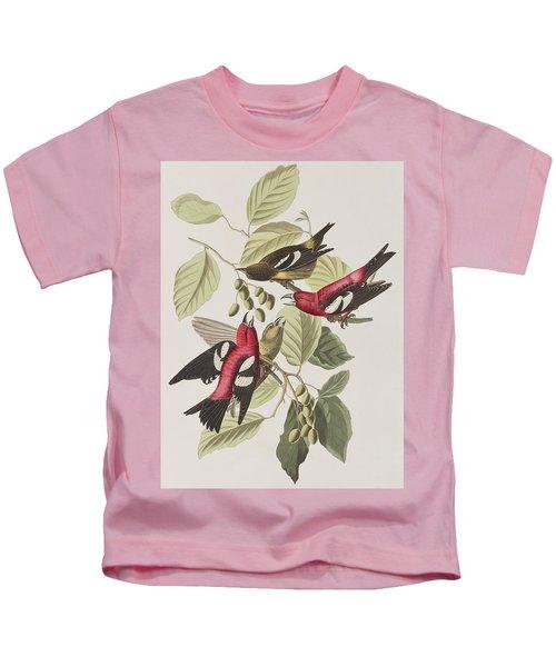 White-winged Crossbill Kids T-Shirt by John James Audubon