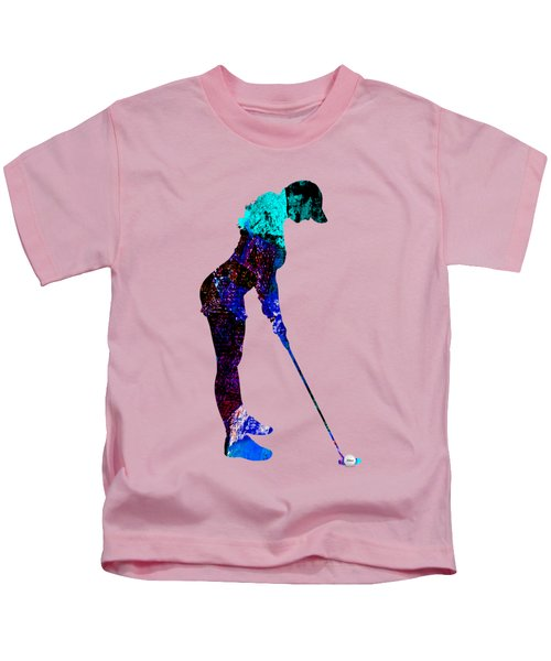 Womens Golf Collection Kids T-Shirt by Marvin Blaine