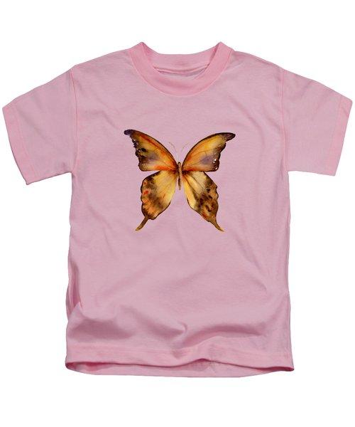 7 Yellow Gorgon Butterfly Kids T-Shirt by Amy Kirkpatrick