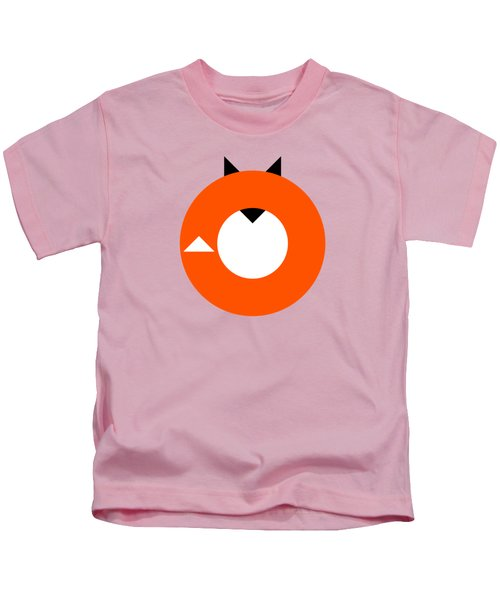 A Most Minimalist Fox Kids T-Shirt by Nicholas Ely