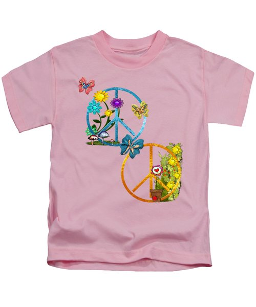 A Very Hippy Day Whimsical Fantasy Kids T-Shirt by Sharon and Renee Lozen