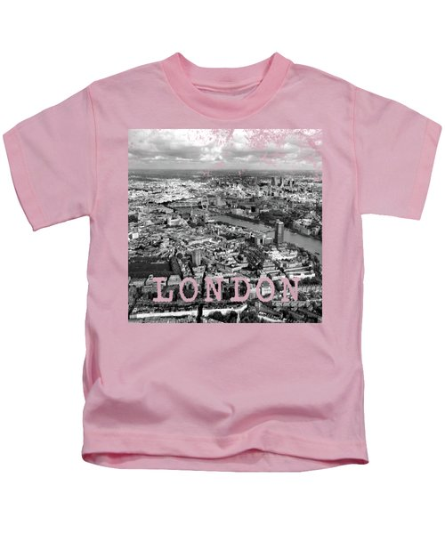 Aerial View Of London Kids T-Shirt by Mark Rogan
