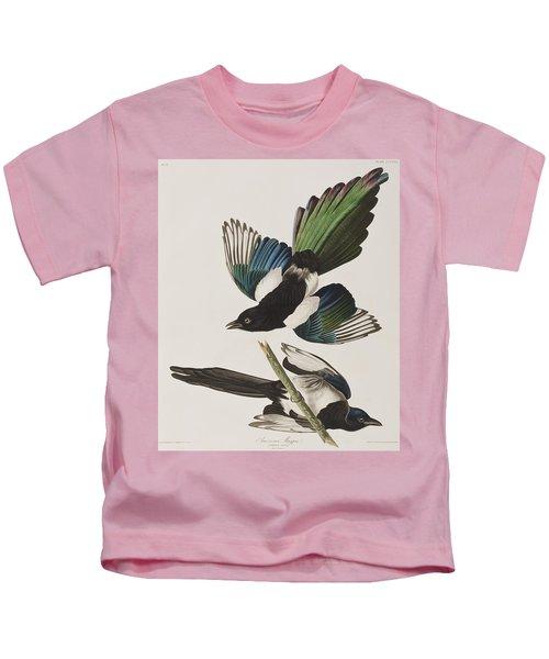 American Magpie Kids T-Shirt by John James Audubon