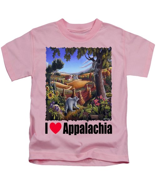 Amish Country - Coon Gap Holler Country Farm Landscape Kids T-Shirt by Walt Curlee