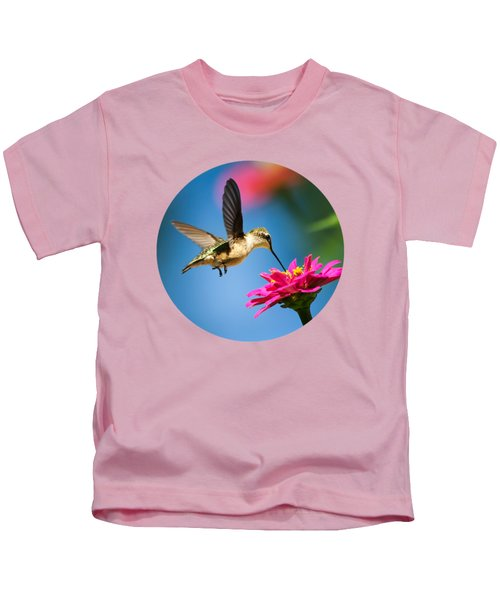 Art Of Hummingbird Flight Kids T-Shirt by Christina Rollo