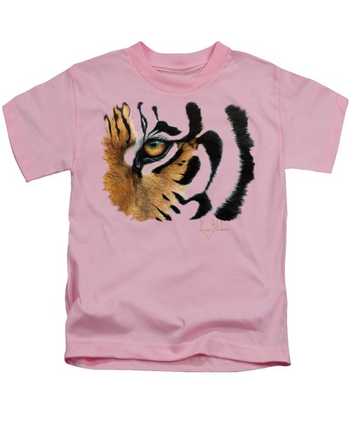 Tiger Eye Kids T-Shirt by Lucie Bilodeau
