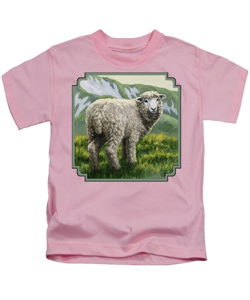 Highland Ewe Kids T-Shirt by Crista Forest