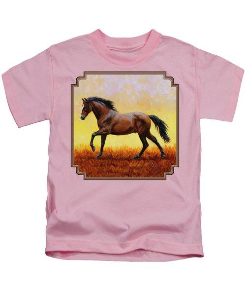 Midnight Sun Kids T-Shirt by Crista Forest