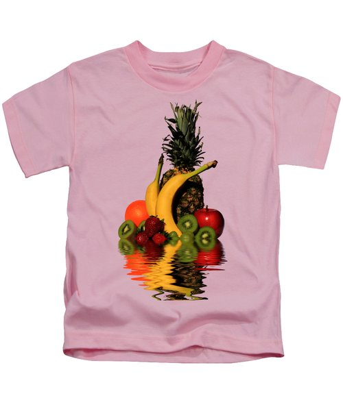 Fruity Reflections - Light Kids T-Shirt by Shane Bechler