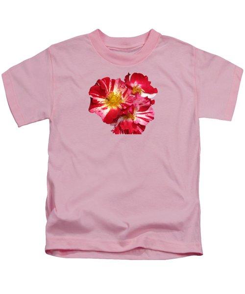 July 4th Rose Kids T-Shirt by M E Cieplinski