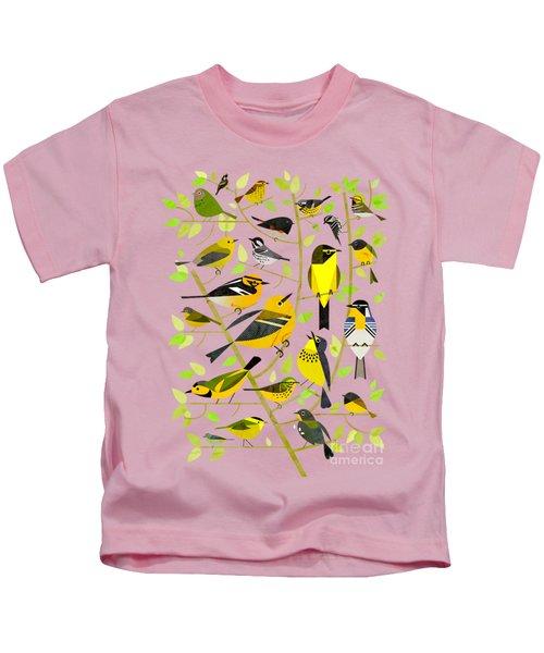 Warblers 1 Kids T-Shirt by Scott Partridge