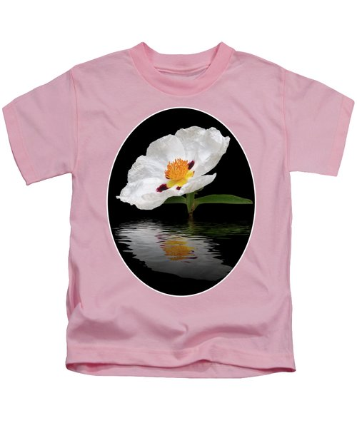 Cistus Reflections Kids T-Shirt by Gill Billington