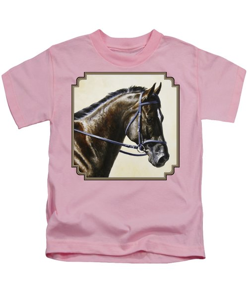 Dressage Horse - Concentration Kids T-Shirt by Crista Forest