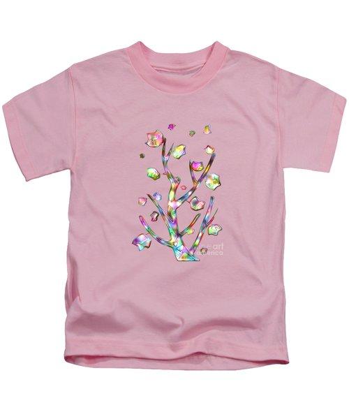 Rainbow Tree Kids T-Shirt by Anastasiya Malakhova