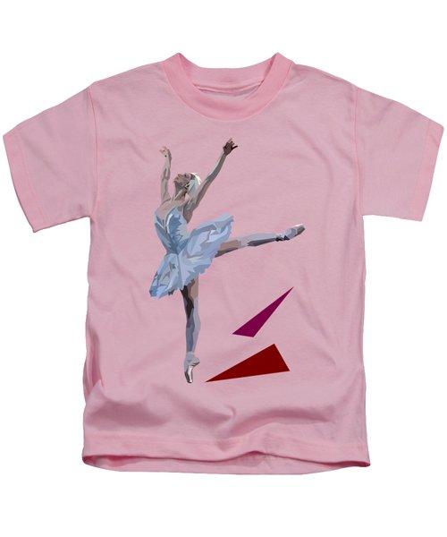 Ballerina Dancing Swan Lake Kids T-Shirt by James Bryson