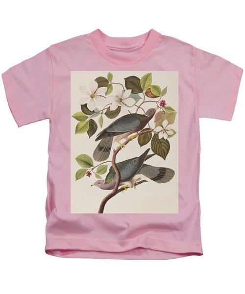 Band-tailed Pigeon  Kids T-Shirt by John James Audubon