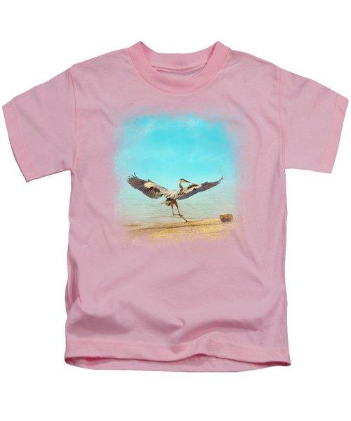 Beach Dancing Kids T-Shirt by Jai Johnson