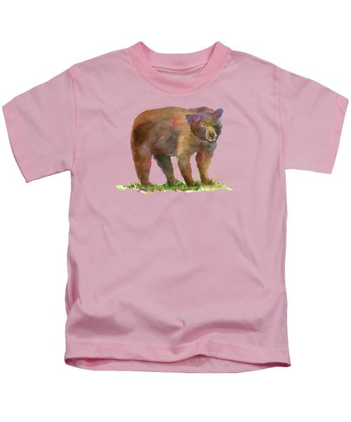 Bear Kids T-Shirt by Amy Kirkpatrick