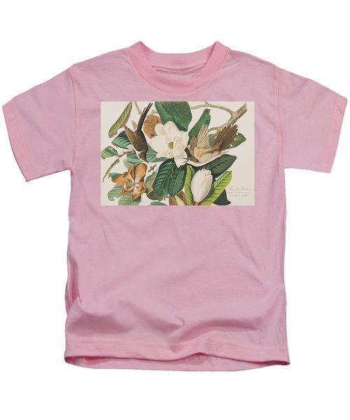 Black Billed Cuckoo Kids T-Shirt by John James Audubon