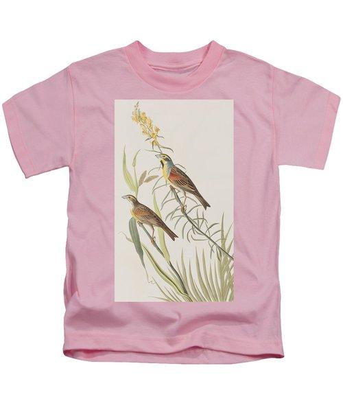 Black-throated Bunting Kids T-Shirt by John James Audubon