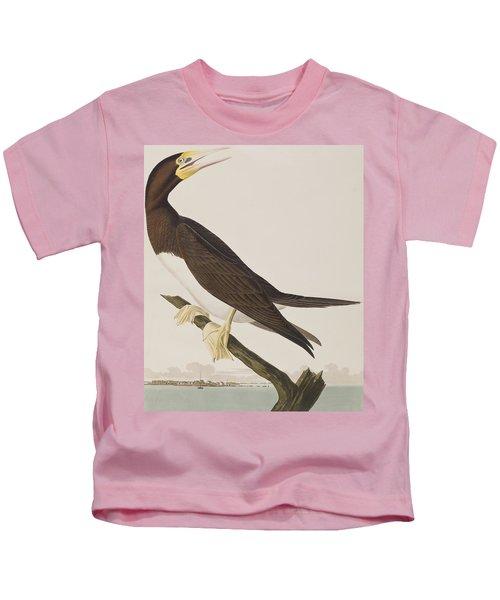 Booby Gannet   Kids T-Shirt by John James Audubon