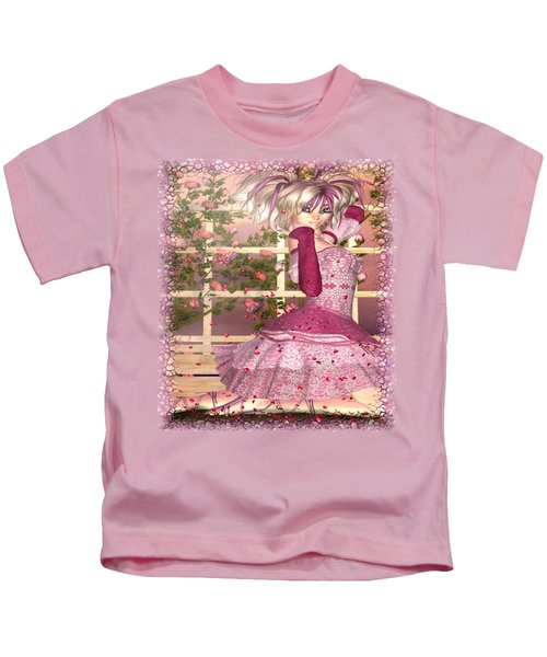 Breath Of Rose Fantasy Elf Kids T-Shirt by Sharon and Renee Lozen