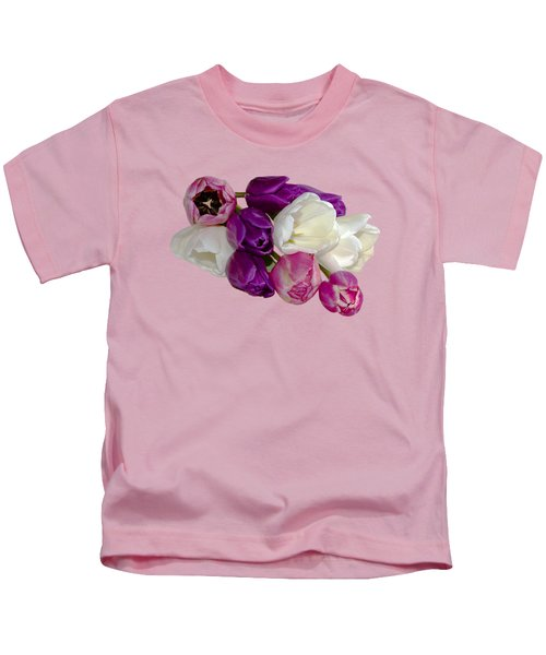 Cascading Tulips Kids T-Shirt by Phyllis Denton