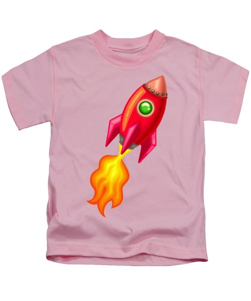 Cherry Bomb Rocket Kids T-Shirt by Brian Kemper