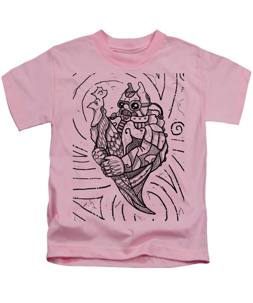 Chicken Master Kids T-Shirt by Sotuland Art