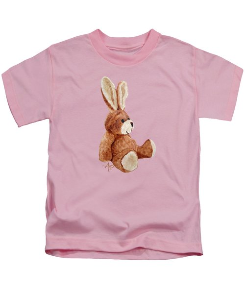 Cuddly Rabbit Kids T-Shirt by Angeles M Pomata