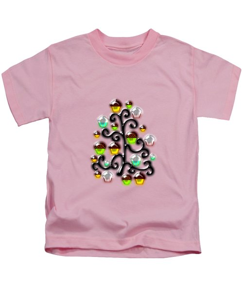Cupcake Glass Tree Kids T-Shirt by Anastasiya Malakhova