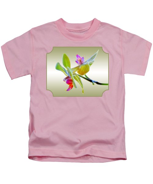 Dragon Glow Orchid Kids T-Shirt by Gill Billington