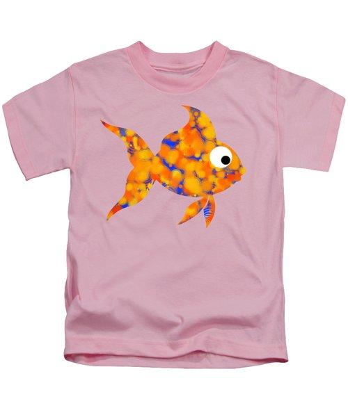 Fancy Goldfish Kids T-Shirt by Christina Rollo