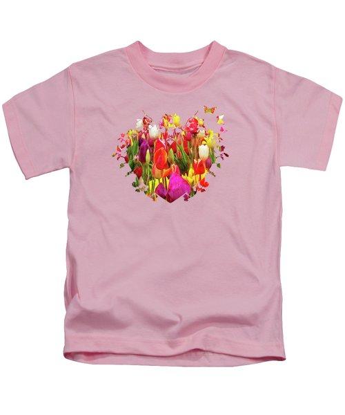 Field Of Tulips Kids T-Shirt by Thom Zehrfeld