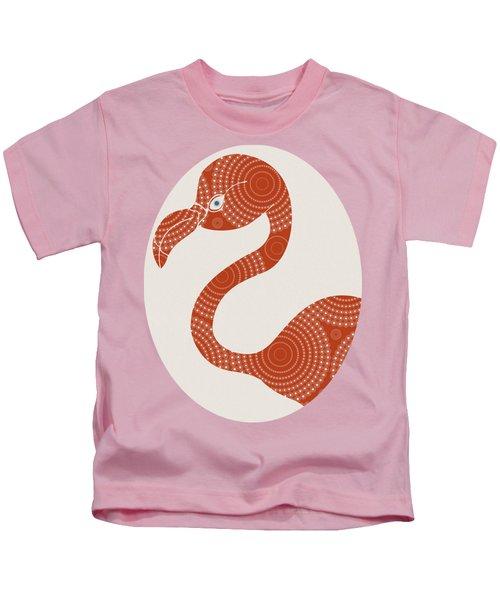 Floral Flamingo Kids T-Shirt by Frank Tschakert