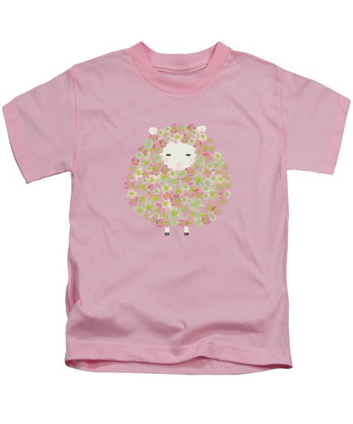 Flowery Sheep Kids T-Shirt by Brigitte Carre