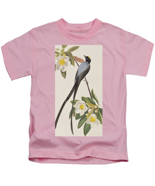 Fork-tailed Flycatcher  Kids T-Shirt by John James Audubon