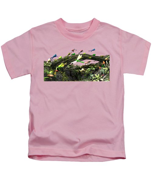 Frog Glen Kids T-Shirt by Methune Hively